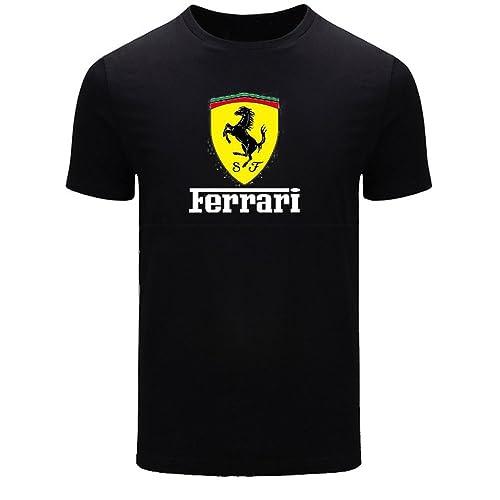a0d8d22e Ferrari for 2016 Mens Printed Short Sleeve Tops t Shirts