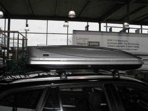 Originele BMW dakkoffer skibox 320 liter klein zilver NIEUW MODEL