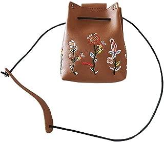 Shoulder Bags, LITTLE TREE-AU Women Vintage Flowers Designer Handbag Shoulder Tote Messenger Bag (Brown)