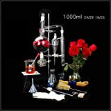 Inicio aparato de destilación y de laboratorio adecuado para Material de laboratorio de ciencias de escuela, laboratorio magnética destilador de vidrio lleno equipo de laboratorio químico, 1000ml