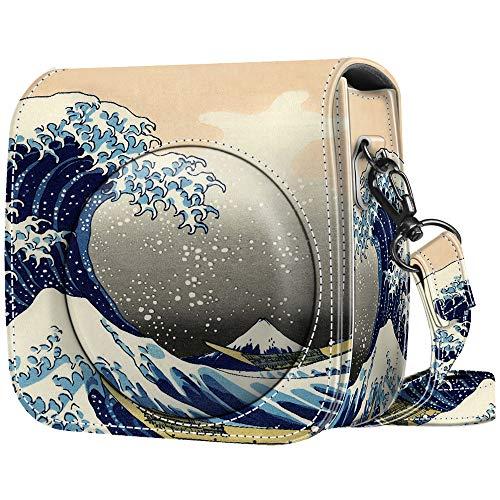 Fintie Tasche für Fujifilm Instax Mini 9 Mini 8+ Mini 8 Sofortbildkamera - Premium Schutzhülle Reise Kameratasche Hülle Abdeckung mit abnehmbaren Riemen, Die Wellen