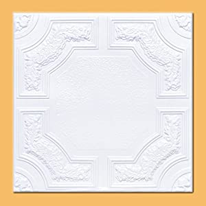 """50pc of Caracas White (20""""x20"""" Foam) Ceiling Tiles - Covers About 135sqft"""