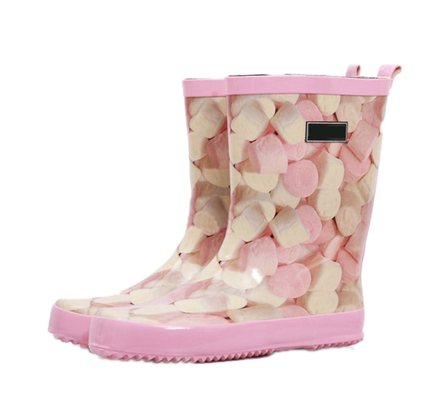 シャーロットブロンテ後ろにインタビュー[NOMSOCR] レインブーツ 長靴 レディース ロングブーツ 雨 柔らかい カジュアル レインシューズ キャンディ柄 軽量 防水 ラバーブーツ 歩きやすい おしゃれ 雨具 雨靴アウトドア