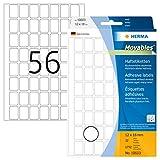 HERMA 10603 Vielzweck-Etiketten ablösbar (12 x 18 mm, 32 Blatt, Papier, matt) selbstklebend, Haushaltsetiketten zur Handbeschriftung, 1.792 Haftetiketten, weiß