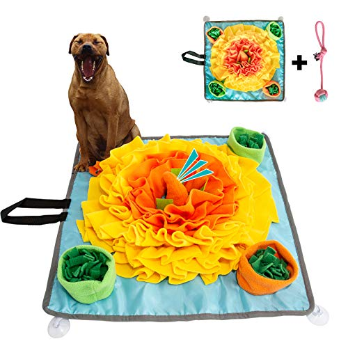 Rainyk Pet Snuffle Mat for Dogs Small Large, Durable & Easy to Fill, Interactive Feeding Games, Encourages Natural Foraging Skills for Dogs