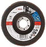 Bosch 2608606924 - Disco lamellare, diametro 125 mm, diametro foro 22,23 mm, 80 giri/min, ...
