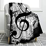 Jekeno Music Note Blanket Double Sided Print Throw Blanket Soft Comfortable for Sofa Chair Bed Office 50'x60'