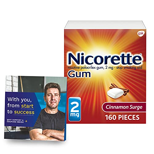 Nicorette 2mg Coated Nicotine Gum to Help Quit Smoking with Behavioral...