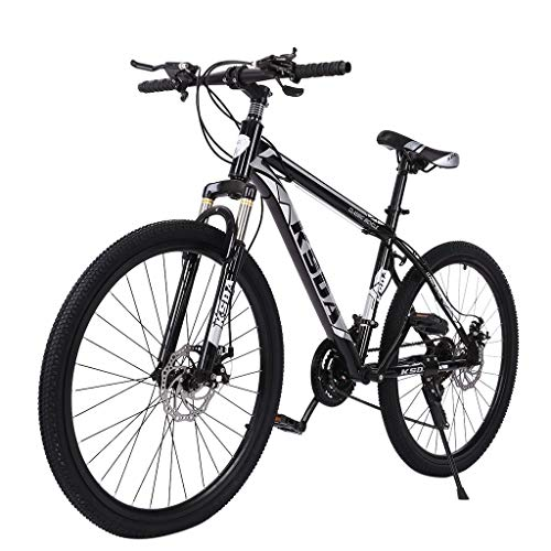Gorunning 26 Inch Teen&Adult Mountain Bikes, with Suspension MTB Fork/Disc Brake, 21 Speeds Shimano Drivetrain, Carbon Steel Road Bike, Free Kickstand Included