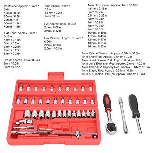 Juegos de enchufes, 46 piezas Craftsman Juego de enchufes, para mantenimiento de vehículos Mantenimiento de motor Mantenimiento de suspensión Reemplazo de neumáticos