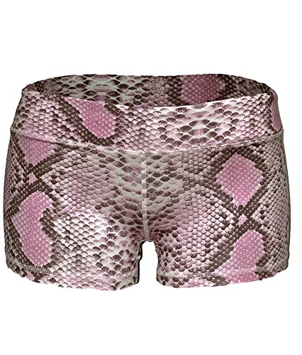Epic MMA Gear Yoga Stretch Booty Shorts (Small, Snake Pink)