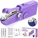 SAFETYON Mini macchina da cucire portatile 30 pezzi, mini macchina da cucire portatile elettrica manuale comoda macchina da cucire adatta per lavori di cucito fai da te