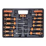 BRIMIX 33 piezas juego de destornilladores magnéticos con caja organizadora y...