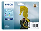 Epson Stylus Photo RX 500 (T0487 / C 13 T 04874010) - original - Inkcartridge multi pack black cyan magenta yellow photocyan photomagenta - 450 Pages