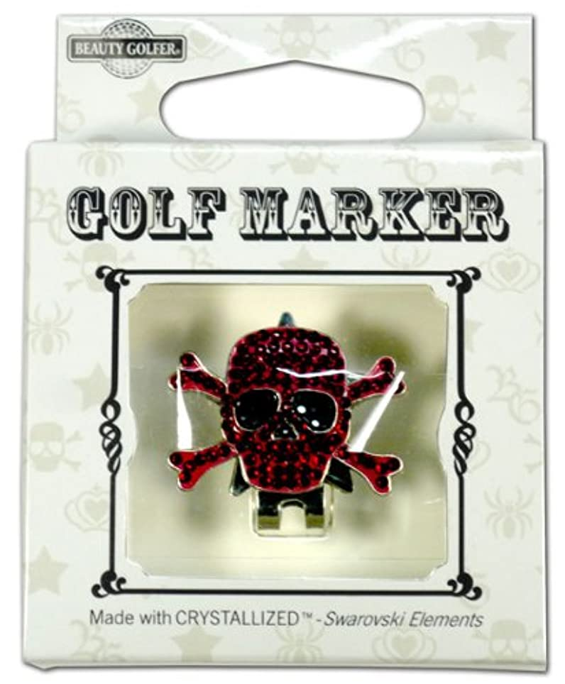 変化するキャリア寝るゴルフ マーカー BG-18 ドクロ ワインレッド