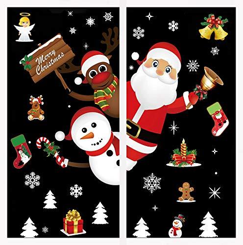 Xinmeng Navidad Pegatinas de Ventana, Calcomanías De Ventana De Copo De Nieve Ventana de Navidad para Fiesta, Ventana Navidad Adornos de Navidad
