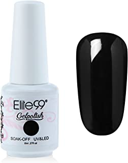 Qimisi Gelpolish Soak-Off Gel Nail Polish Uv Led Base Coat 8Ml 8Ml 1348 - Black