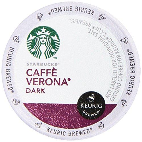 Starbucks Caffe Verona, Dark, K-cup Portion Pack for Keurig K-cup Brewers 16-count