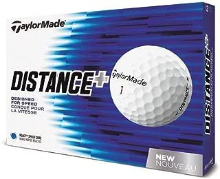 TaylorMade Distance Plus Golf Balls (One Dozen) (Renewed)