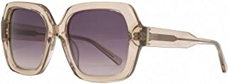 French Connection Womens Premium Chunky Square Sunglasses - Pale Peach