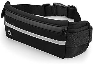 حزام جري أسود مقاوم للماء قابل للتعديل، حقيبة خصر لهاتف آيفون X/Xr/Xs Max/8/7 Plus/6S، سامسونج S8/S7، نوت 9، الحافة، حقيبة...
