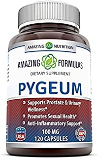 Amazing Formulas Pygeum 100 Mg, 120 Capsules (Non-GMO,Gluten Free) .- Supports Prostate & Urinary Wellness - Promotes Sexu...