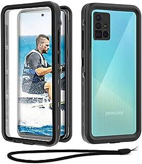 Beeasy Hülle Kompatibel mit Samsung Galaxy A51, IP68 Zertifiziert wasserdichte Outdoor Handyhülle, 360 Grad Schutzhülle mit Displayschutz, Staubdicht Sturzfest Stoßfest Bumper Cover Case, Schwarz