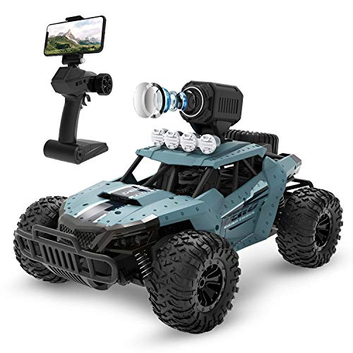PDXGZ Auto Radiocomandata, Rc Auto Monster Truck 2.4Ghz Rc Car 4WD Alta Velocita Monster Truck Telecomando con Telecamera HD 720P Telecomando WiFi, Facile da Usare e da intrattenere