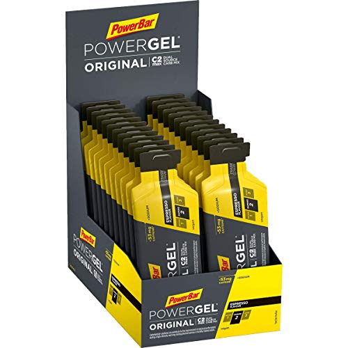 PowerBar PowerGel Original Espresso 24x41g - High Carb Energy Gel + C2MAX Magnesio e Sodio