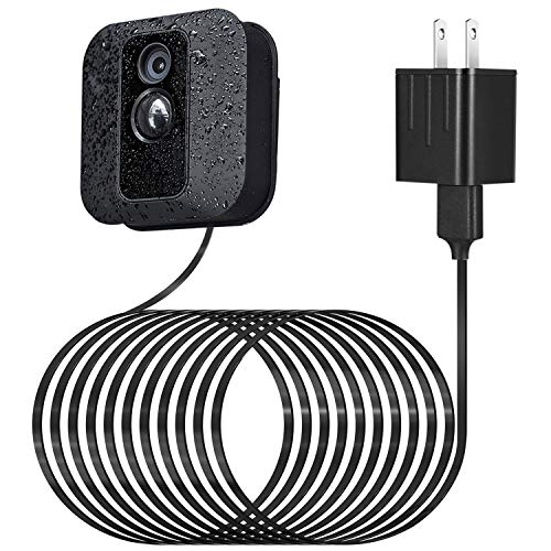 Power Adapter for Blink XT XT2 Outdoor & Indoor Camera, with 25 ft/7.5 m Weatherproof Cable Continuously Charging Blink Camera, No More Battery Changes - Black