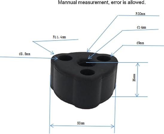 10 Stk Hochwertige Hart Gummi Auspuffrohr Gummi Isolator Tülle Halterung Aufhänger Buchse Halterung 61dq2 1203091 Auto