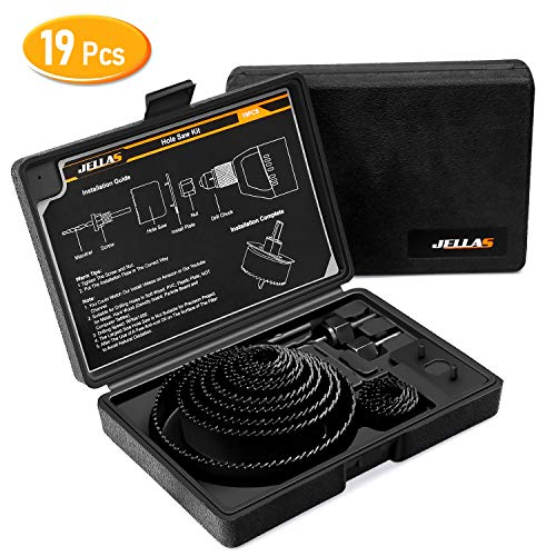 19Pcs Coronas Perforadoras -JELLAS 19-127mm Broca Corona Juego(Include 25 and 35mm) en...