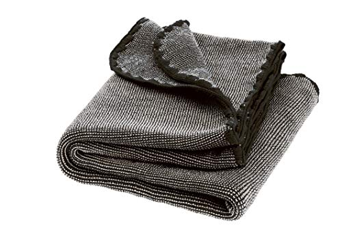 Disana Melange-Babydecke Wolle, Größe: 80x100 cm, Anthrazit Melange, 80x100 cm