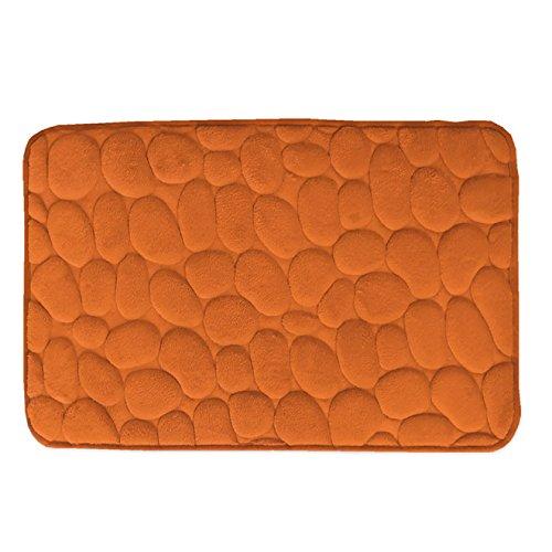 Secaneta Alfombra DE BAÑO Piedras - Naranja, 040x060 cm.