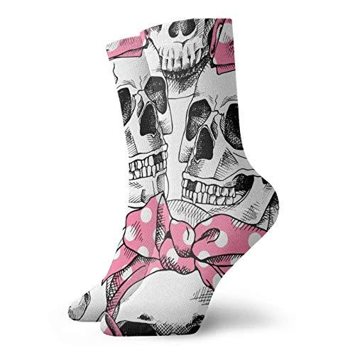 Unisex Socken mit Totenkopf-Motiv, atmungsaktiv, bequem, Quarter-Socken, Laufsocken, Sportsocken für Damen