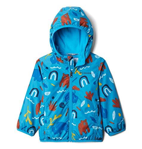 Columbia Kids' Toddler Boys' Mini Pixel Grabber II Wind Jacket, Ocean Blue Joyful Shapes, 2T