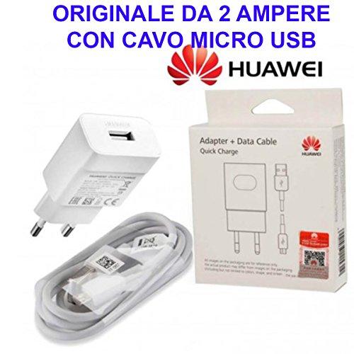 HUAWEI Alimentatore Caricatore Caricabatterie Originale P8 P9 Lite P10 2017 Mate S Nova Smart VNS-L21 AL21 LX1A Cavo Micro USB Dati Ricarica Veloce