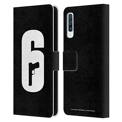 Head Case Designs Officially Licensed Tom Clancy's Rainbow Six Siege Black and White Logos Leather Book Wallet Case Cover Compatible with Samsung Galaxy A50s (2019)