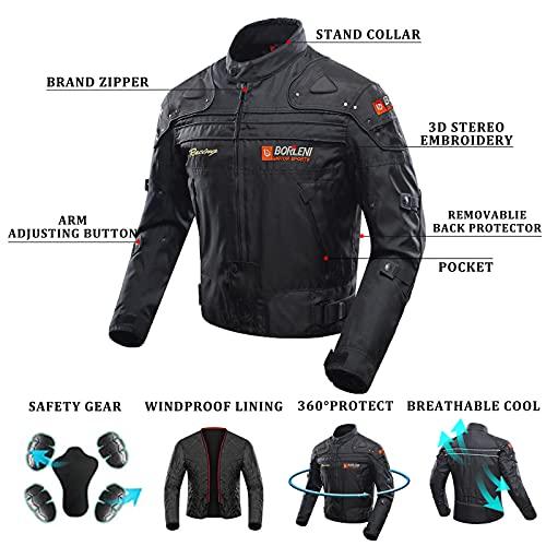 BORLENI Chaqueta de moto a prueba de viento motocicleta armadura de equipo de protección otoño invierno verano para hombre de toda estaciòn