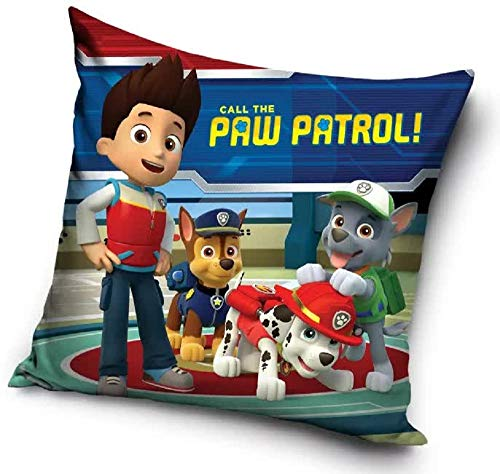 Paw Patrol Ryder - Cojín decorativo para niños (40 x 40 cm)