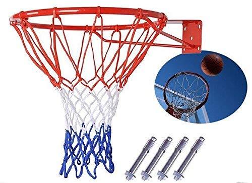 Shenghuajie Canasta de Baloncesto Red Anillo Soporte Pared Exterior Colgante Cesta 18'' 45cm