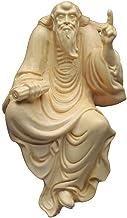 ZGPTX Huang Yang Wood Carving Damo Ornaments Handicrafts Desk Tea Favorite Buddha Statue Home Decoration Gift