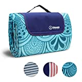 2. ZOMAKE Picnic Blanket Mat Waterproof Extra Large, Outdoor Blanket with Waterproof Backing for Family, Concerts, Beach, Park