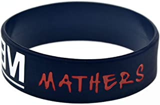 Dixinla Sports Wristbands Fashion Bracelet Silicone with Sayings 'Marshall Mathers Eminem' Rubber Wristbands for Adults and Kids Set of 10 Pieces