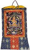 Thangka Manjushri Bodhisattva der Weisheit Kunstdruck im