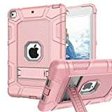 iPad Mini 5 Case, iPad Mini 4 Case, Hybrid Three Layer Armor Shockproof Rugged Drop Protection Cover Case Built with Kickstandfor iPad Mini 4 / 5 7.9 Inch