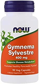 NOW Supplements, Gymnema Sylvestre 400 mg, Supports Glucose Metabolism*, 90 Veg Capsules