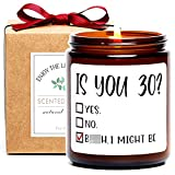 1991 30th Birthday Gifts for Women and Men, is You 30 Scented Soy Candle, Funny 30th Birthday Gag Gift Idea for Him, Her