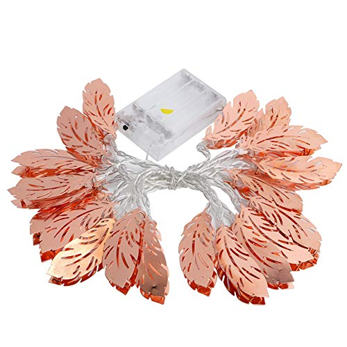 Feather Appearance LED String Light, Party String Light LED Fairy String Light, Battery Supply (Not Included) LED Light, for Lawn Bedroom(2.5m 20 lights)