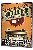 カレンダー Perpetual Calendar Vintage Car auto electric Tin Metal Magnetic
